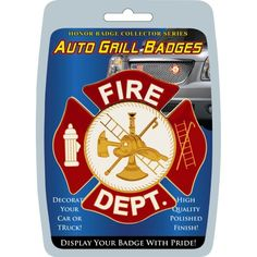 Show and create support for the firefighters who risk their lives for our safety with this auto grill badge. Part of the Honor Badge Collector Series, this badge is prized not only by Fire Department
