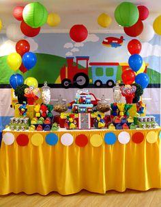 Wild One Birthday Party, First Birthday Themes, Trains Birthday Party, 1st Boy Birthday, Boy Birthday Parties, Birthday Balloons, Birthday Decorations, First Birthdays, Transportation Birthday