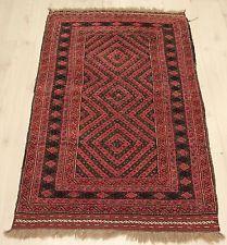 """Afghan Carpet Afghan Handmade Mushwani Rug Wool Rug 33.8""""x51.1"""" (46350)"""