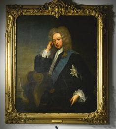 Charles Jervas COUNTY OFFALY, IRELAND 1675 - 1739 LONDON PORTRAIT OF HENRY GREY, 1ST DUKE OF KENT (1671 - 1740), THREE QUARTER LENGTH, SEATED IN A LANDSCAPE, WEARING THE ORDER OF THE GARTER