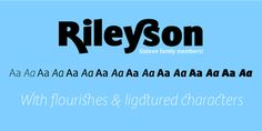 A crisp, contemporary sans serif, Rileyson is ideal for branding and more