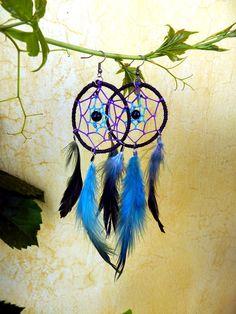 Dreamcatcher earrings - Handgjorda dreamcatcher örhängen...