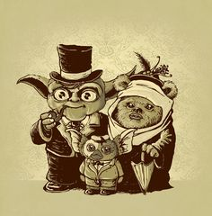 Funny pictures about Yoda + Ewok = ? Oh, and cool pics about Yoda + Ewok = ? Also, Yoda + Ewok = ? Star Wars Meme, Star Wars Art, Star Trek, Ewok, Les Gremlins, Cinema Tv, Humor Grafico, Smileys, Cultura Pop