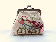 Monedero con boquilla  - Bicicleta de La tienda Vintage de Kima por DaWanda.com