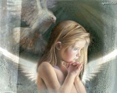 Nancy Noel's Gorgeous 'Be Still' Limited Edition Art Print To Benefit Sandy Hook Family Fund Angel Artwork, Saint Esprit, Gifs, Psy Art, Angel Pictures, Angels Among Us, Art Prints, Portrait, Artist