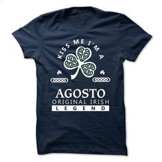 AGOSTO - KISS ME I\M Team - #mens tee #cool sweatshirt. PURCHASE NOW => https://www.sunfrog.com/Valentines/-AGOSTO--KISS-ME-IM-Team.html?68278