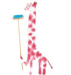 Ilaria Demonti on Behance #giraffe #illustration #ink