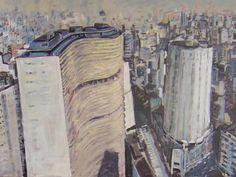Conjunto Arquitetônico (2012) óleo e esmalte sobre tela (100 x 130 cm)