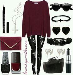 Black and red. ♡♥♡