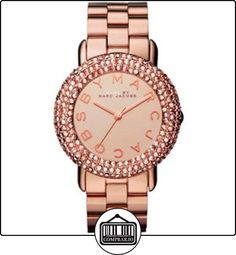 Marc Jacobs MBM3192 - Reloj para mujeres con cristales Swarovski color plata, correa de acero inoxidable, color oro rosa de  ✿ Relojes para mujer - (Gama media/alta) ✿