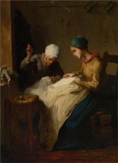 Jean-Francois Millet The Young Seamstress print for sale. Shop for Jean-Francois Millet The Young Seamstress painting and frame at discount price, ships in 24 hours. Claude Monet, Illustrations, Illustration Art, Jean Francois Millet, Carpeaux, Barbizon School, Honore Daumier, Munier, Gustave Courbet
