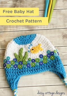 Keep your baby cozy and cute with this adorable free Fishbowl Hat Crochet Pattern.