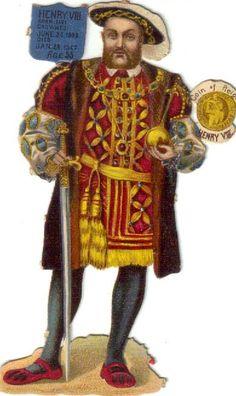 Victorian Die Cut Scrap Raphael Tuck King Henry VIII of England | eBay
