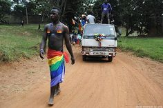 Activists in Uganda, where homosexuality is punishable by death, held their first Pride. A great example of courage