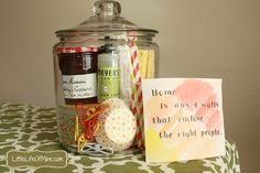 Housewarmig Gift in a Jar---move in gift! What will you put in your jar?