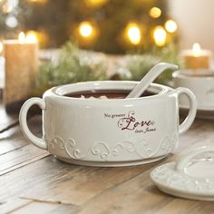 Love Came Down - No Greater Love - Embossed Soup Tureen & Ladle