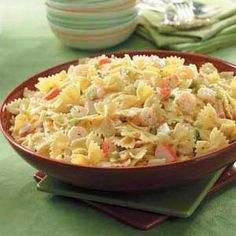 Bow Tie Seafood Salad.  This was my sister's favorite recipe & it is soo yummy.