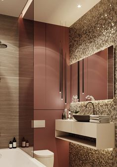 Showroom apartments visualization on Behance Washroom Design, Vanity Design, Bathroom Design Luxury, Bathroom Layout, Modern Bathroom Design, Latest Bathroom Designs, Contemporary Bathroom Designs, Modern Home Interior Design, Small Bathroom Vanities