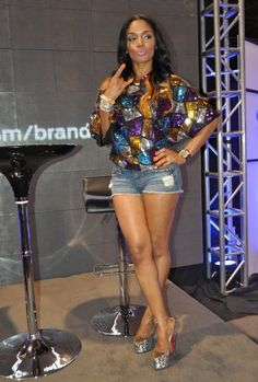 Rasheeda Frost's Color Block Sequin Tunic