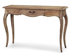 French Provincial Furniture Display Natural Oak Console Hall Table