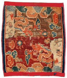 Antique Rugs and Carpets Tibetan Dragon, Tibetan Rugs, Textiles, Chinese Painting, Tribal Rug, Persian Rug, Kilim Rugs, Asian Art, Rugs On Carpet
