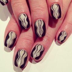 Cocoon art nails #avarice #art #kayo #design #nails #nailart #nailsalon #Cocoon #mat  (NailSalon AVARICE)