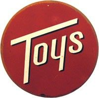 Vintage Toys Tin Sign Reproduction