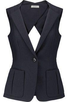 Shop Nina Ricci Cutout Cotton-piquÉ Vest from stores. Vest Outfits For Women, Mode Outfits, Suits For Women, Casual Outfits, Clothes For Women, Clothes Sale, Fashion Vestidos, Fashion Dresses, Chaleco Casual