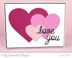 Love and Adore You Die-namics, Pierced Heart STAX Die-namics - Julie Dinn #mftstamps