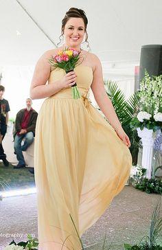 Soft yellow bridesmaid dress - fashion show