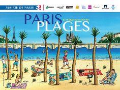 Paris Plage 2014_Imagem- Marie de Paris_ Jacques de Loustal