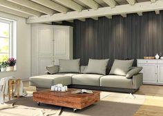 Modulares Sofa Cuban Das FEYDOM Sofa besteht aus vier Elementen und ist erweiterbar. Einfach weitere Mittelteile, oder Seitenteile oder Hocker ergänzen und das Sofa beliebig vergrößern