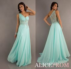 ONLY $50 Hot Mint One Shoulder Party/Prom/Evening/Pageant dress/Ballgown/SZ 6-14 IN STOCK