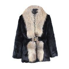 Manteau Lapin Et Raccoon Nanci 445,00 € Couleur: Noir Tailles disponibles: S, M, L, XL, XXL, XXXL