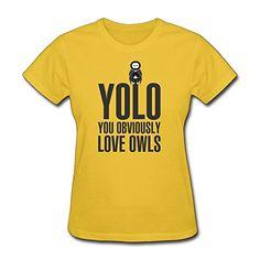 Custom Make Funny Yolo Obviously Love Owls T Shirt O-Neck women T-Shirt http://www.amazon.com/dp/B00LPHM654/ref=cm_sw_r_pi_dp_o-88tb0DKSK6K