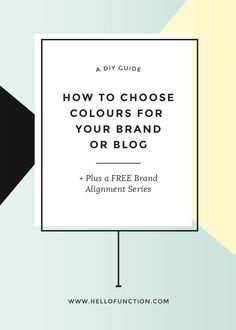 Color consistency in your brand is crucial for getting noticed. Check out this guide to choosing your brand colours and start to find consistency.
