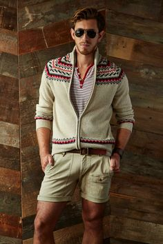 Michael Bastian's Spring 15 Collection Goes West/ Shorts/ Stripes