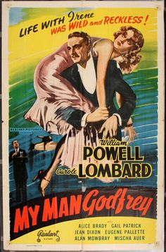 "Starring Carole Lombard and William Powell, ""My Man Godfrey"" is a classic romantic comedy with some real life chemistry mixed in. On top of being funny, beautiful and poignant, ""My Man Godfrey"" is also critically acclaimed."