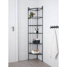 IKEA RÖNNSKÄR, Eckregal, 37x176x37 cm, schwarz