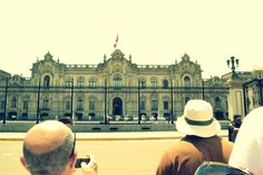 Peru the presidents house. We stood in front of this & took a picture.