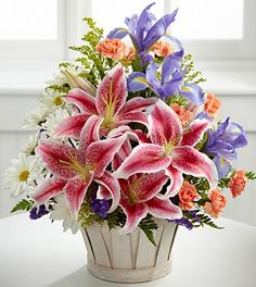 The Wondrous Nature™ Bouquet by FTD® - BASKET INCLUDED- Deluxe See site for pricing details