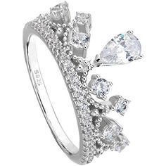 Ever Faith 925 Sterling Silber CZ Prinzessin Herz Krone Diadem Band Ring - Größe 56 (17.8) N06392-3 Ever Faith http://www.amazon.de/dp/B011NPPKKA/ref=cm_sw_r_pi_dp_OmfUvb1RM6VEJ