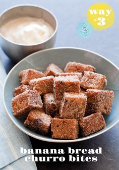banana bread churro bites