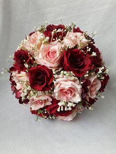 Burgundy And Blush Wedding, Dusty Rose Wedding, Rose Wedding Bouquet, Floral Wedding, Chinese Wedding Decor, Bridal Brooch Bouquet, Prom Flowers, Wedding Decorations, Wedding Centerpieces