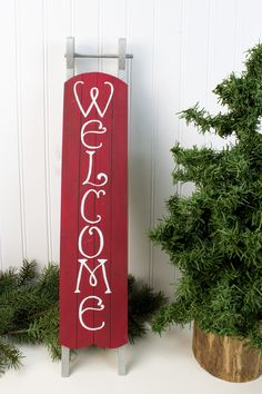 DecoArt® Welcome Sled #christmas #craft