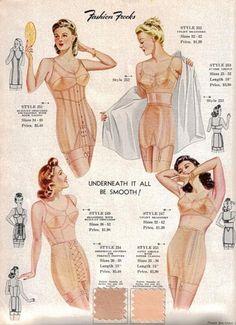 1940s Lingerie ad ~ (pág. 111)   Aprender manualidades es facilisimo.com