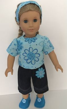 """CHARLIE BROWN FRIENDS STRIPED DRESS  /& HEADBAND--MADE TO FIT 15/"""" GIRL DOLL"""
