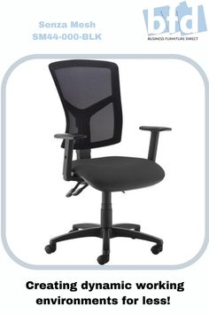 Comfort, reliability and affordability are the key attributes of the Senza operators chair with its curvaceous profile and vast array of options that deliver style as well as substance. Equipped with ergonomic features, a high back, extra high back and mesh back options, this operators chair easily provides the comfort needed for a long day at work. Business Furniture, Home Office Furniture, Folded Arms, Mesh Chair, Furniture Direct, Back Seat, Chair Fabric, Mesh Fabric, Wheels