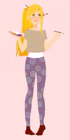 Modern Rapunzel by Punziella.  (Edited by me, marybeth52400.)
