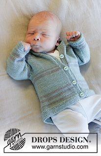 Baby Business Set / DROPS Baby 33-20 - Kostenlose Strickanleitungen von DROPS Design Baby Knitting Patterns, Baby Cardigan Knitting Pattern Free, Free Knitting, Crochet Patterns, Drops Design, Knitted Baby Clothes, Knitted Hats, Pull Bebe, Jacket Pattern